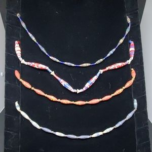 Bundle of 4 Rolled Paper Necklaces
